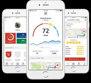 UbiCar mobile telematics app screenshots