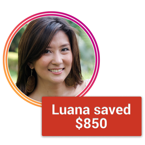 Luana with savings