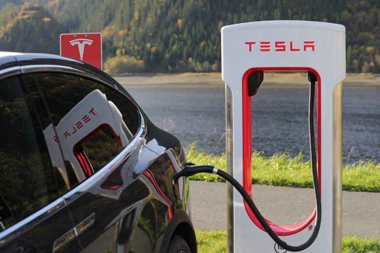 Tesla Electric Car Charging Station